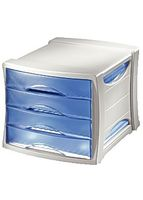 Drawer cabinet Europost transparent blue