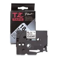 P-Touch Tape Black On Clear 12 mm Strong Adhesive