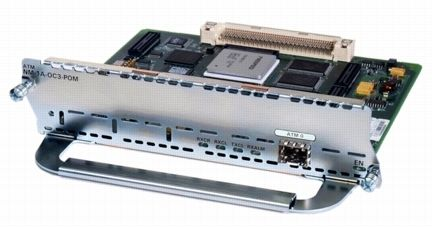 ATM OC3 module with single POM (SFP) slot