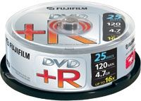 DVD+R 4.7 GB 16X CAKEBOX 25P SILVER