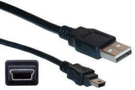 CONSOLE CABLE 6FT WITH USB TYPE A & MINI-B