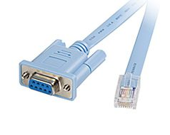 6FT CONSOLE CABLE W/RJ45 & DB9F