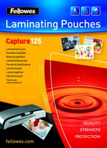 FELLOWES Glossy 125 Micron Card Laminating Pouch - 54x86 mm (5306302*10)