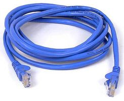 BELKIN CAT5e Sng/Shd Patch Cable RJ45M 1M Blue (A3L791CP01MBLHS)