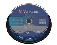 VERBATIM BD-R DL 50GB 10-pack Spindel double layer 6x recordable