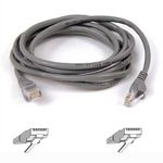 CAT 5 PATCH CABLE 50CM MOULDED SNAGLESS GREY NS