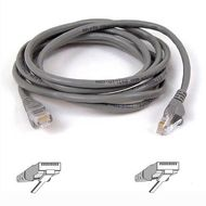 CAT 5 PATCH CABLE 10BASET MOULDED SNAGLESS 15M GREY UK