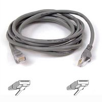 CAT 5 PATCH CABLE 10BASET MOULDED SNAGLESS 15M GREY NS