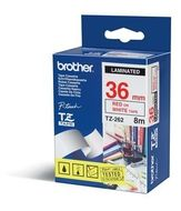 BROTHER 36MM Red On White Tape (TZE262)