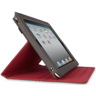 "Flip Folio Stand For Samsung Galaxy Tab 10"" Dark Grey/Red"