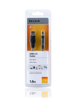 USB A/B cable 1,8 m Hi-Speed 2.0