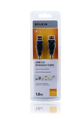 USB A/A cable extension 1,8 m Hi-Speed 2.0