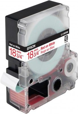 LC-5WRN9 - TAPE 18MM STANDARD RED ON WHITE SUPL