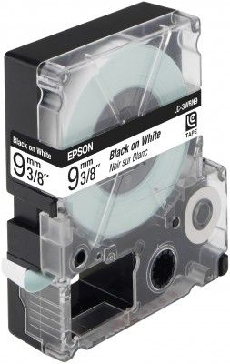 LC-3WBN9 - TAPE 9MM STANDARD BLACK ON WHITE SUPL