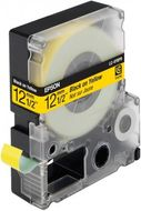 EPSON LC-4YBP9 - TAPE 12MM PASTEL BLACK ON YELLOW SUPL (C53S625403)