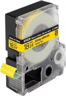 LC-5YBW9 - TAPE 18MM STRONG ADHESIVE BLACK ON YELLOW SUPL