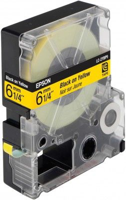 LC-2YBP9 - TAPE 6MM PASTEL BLACK ON YELLOW SUPL