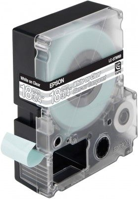 LC-5TWN9 - TAPE 18MM TRANSPARENT BLACK ON TRANSP SUPL