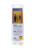 USB A/Mini-B 5-pol. Cable 1,8 m Hi-Speed 2.0
