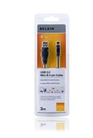 USB A/Mini-B 5-pol. Cable 3,0 m Hi-Speed 2.0