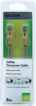 CAT5e Molded X-Over Cable Grey Mold 6M