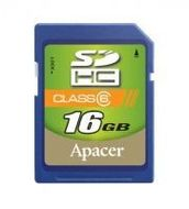 APACER SDHC Secure Digital High Capacity Class6 16.0GB Retail (AP16GSDHC6-R)