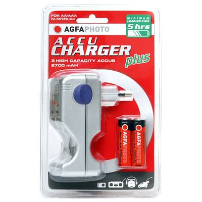 Accu Charger plus incl. 2 rech. batteries 2700 mAh