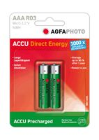1x2 NiMh Micro AAA 950 mAh Direct Energy rech. bat.