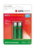 1x2 Akku NiMh Mignon AA 2100 mAh Direct Energy