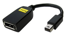 Mini DisplayPort till DisplayPort,  svart
