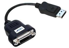 Displayport till DVI-D Single-Link adapter, svart