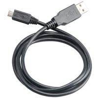 USB2.0 Micro-B Cable 100cm Black Type A male to Micro B male