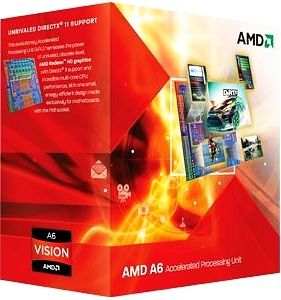 A-Series A6-3500 Socket- FM1, Triple Core, 2.1Ghz, 65W, 3MB, Radeon HD6530