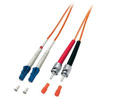 EQUIP Fibre Optic Patchc. LC/ST 50/125µ 5.0m o (254215)