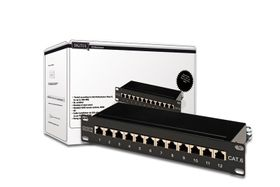 CAT 6, PATCH PANEL CLASS E, SHIELDED, 12 PORT CABL