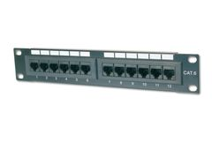 DIGITUS PatchPanel Cat.5e 12 Port Digi