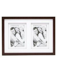 S65KQ2           2x13x18 wooden frame gallery  brown