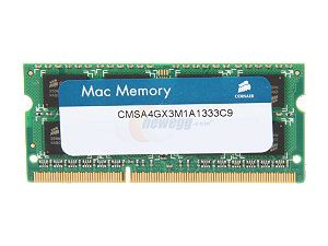 DDR3 PC1333 4GB CL9 SO-DIMM for Mac