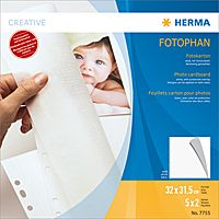 Photo cardboard white 320 x 315mm, 5 sheets      7755