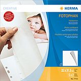 HERMA Photo cardboard white 320 x 315mm, 5 sheets      7755