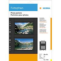 fotophan 10x15 horiz. 10 Sheets black             7786