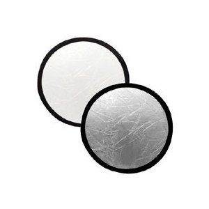 collapsible reflector 30cm silver/ white