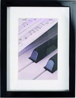 Piano black          13x18 Wooden Portrait Frame