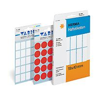 Self-adhesive labels HERMA multi-purpose,  ø12mm, 10 sheets, 1866 (10x240)