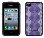 SPECK iPhone 4 Fitted Purple Argyle