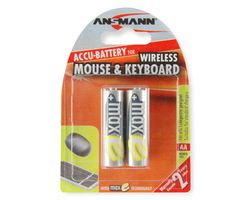 1x2 maxE NiMH Mignong rech. bat. AA 2100 mAh WIRELESS