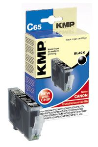 KMP C65 ink cartridge black compatible with Canon CLI-8 BK (1503,0001)