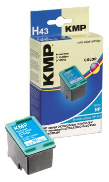 H43 ink cartridge color comp. w. HP CB 338 EE No. 351XL