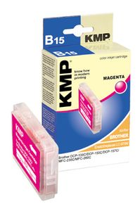 KMP B15 ink cartridge magenta compatible with Brother LC-970 M (1060,0006)