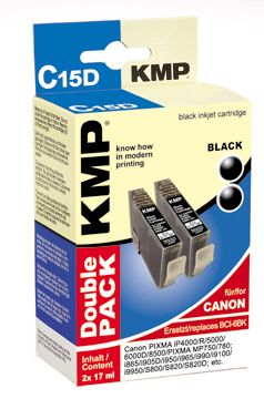 C15D ink cartridge BK 2pcs compatible with Canon BCI-6 BK